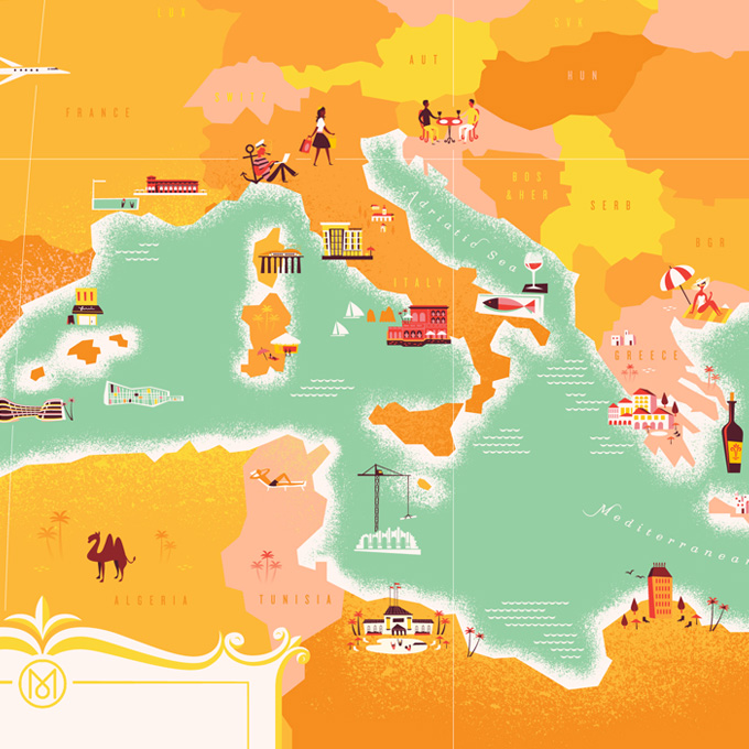 Monocle on the Med Map